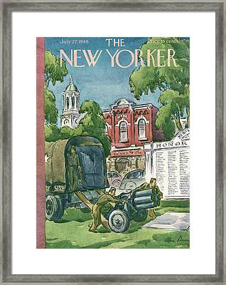 New Yorker July 27th, 1946 Framed Print by Alan Dunn