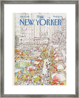 New Yorker July 27th, 1981 Framed Print