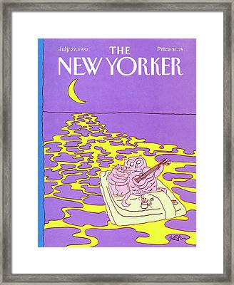 New Yorker July 27th, 1987 Framed Print by Arnie Levin