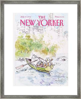 New Yorker July 27th, 1992 Framed Print by Ronald Searle