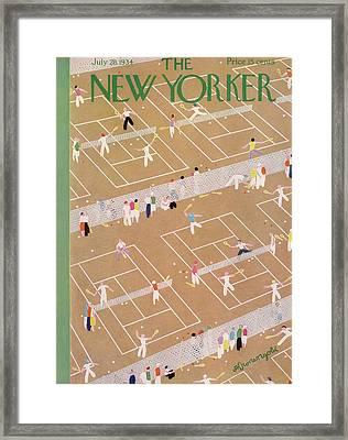 New Yorker July 28th, 1934 Framed Print