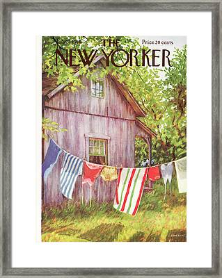 New Yorker July 28th, 1956 Framed Print by Edna Eicke