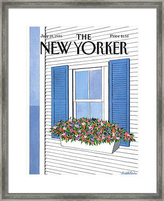 New Yorker July 28th, 1986 Framed Print by Judith Shahn