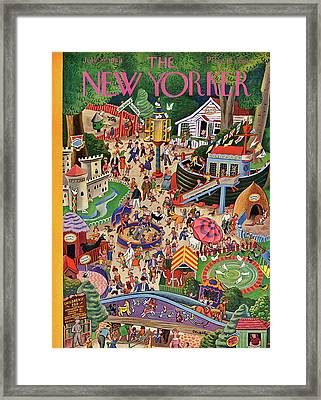 New Yorker July 29th, 1944 Framed Print by Tibor Gergely