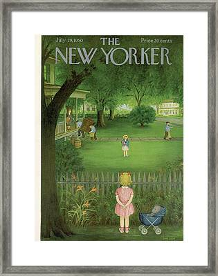 New Yorker July 29th, 1950 Framed Print