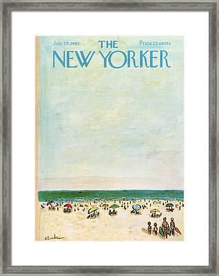 New Yorker July 29th, 1961 Framed Print by Abe Birnbaum