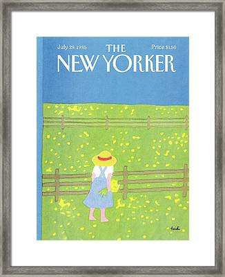 New Yorker July 29th, 1985 Framed Print by Heidi Goennel