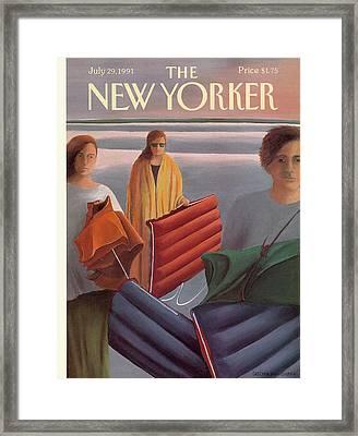 New Yorker July 29th, 1991 Framed Print