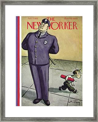 New Yorker July 2nd, 1932 Framed Print by William Steig