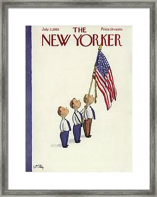 New Yorker July 2nd, 1955 Framed Print