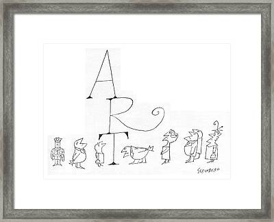 New Yorker July 2nd, 1960 Framed Print by Saul Steinberg