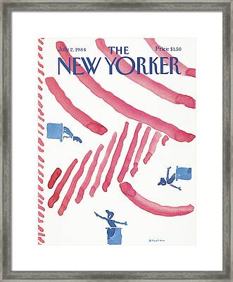 New Yorker July 2nd, 1984 Framed Print by R.O. Blechman