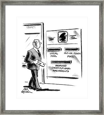 New Yorker July 2nd, 1990 Framed Print by Ed Fisher