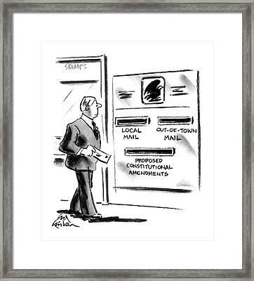 New Yorker July 2nd, 1990 Framed Print