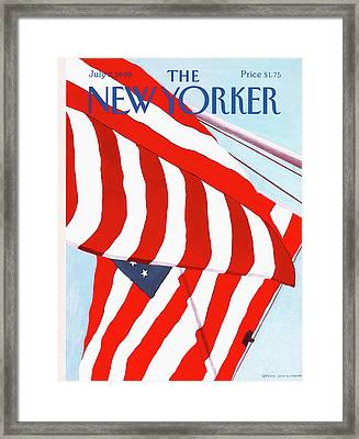 New Yorker July 2nd, 1990 Framed Print