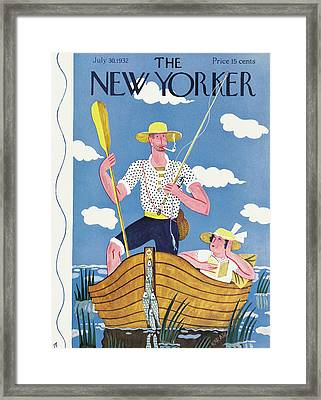 New Yorker July 30th, 1932 Framed Print by Ilonka Karasz