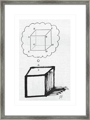 New Yorker July 30th, 1960 Framed Print by Saul Steinberg