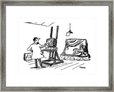 New Yorker July 30th, 1990 Framed Print by Frank Model