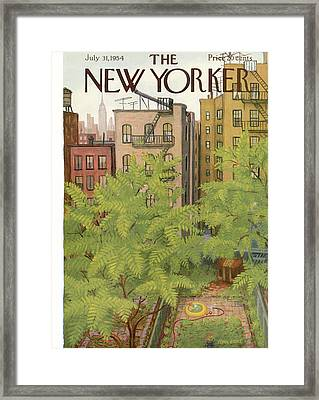New Yorker July 31st, 1954 Framed Print by Edna Eicke