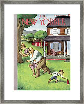 New Yorker July 3rd, 1937 Framed Print by William Steig