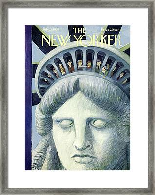 New Yorker July 3rd, 1954 Framed Print by Charles E. Martin