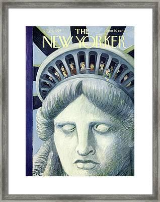 New Yorker July 3rd, 1954 Framed Print
