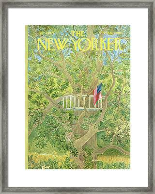 New Yorker July 3rd, 1971 Framed Print by Ilonka Karasz