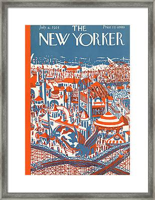 New Yorker July 4th, 1925 Framed Print by Ilonka Karasz
