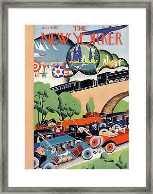 New Yorker July 4th, 1931 Framed Print
