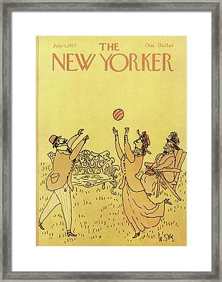 New Yorker July 4th, 1977 Framed Print by William Steig