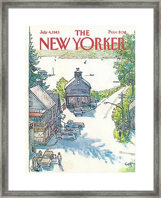 New Yorker July 4th, 1983 Framed Print by Arthur Getz