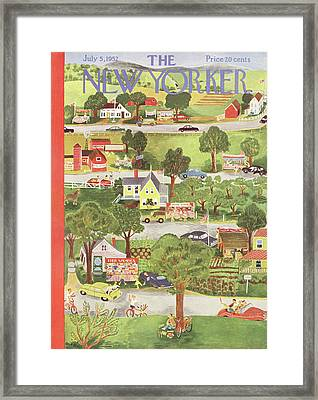 New Yorker July 5th, 1952 Framed Print by Ilonka Karasz