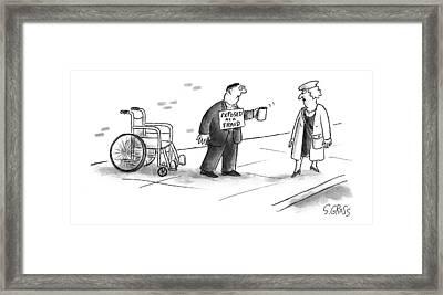 New Yorker July 5th, 1999 Framed Print by Sam Gross