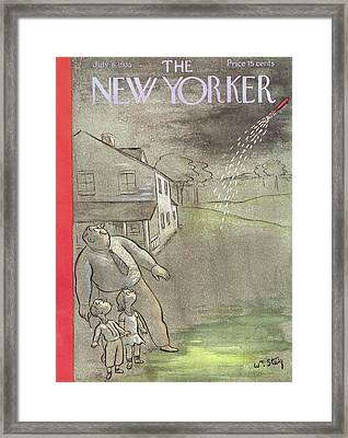 New Yorker July 6th, 1935 Framed Print by William Steig