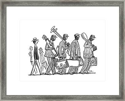 New Yorker July 6th, 1940 Framed Print by Peter Arno