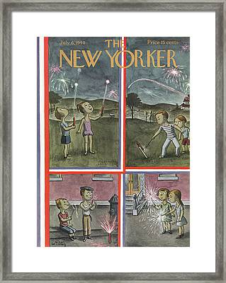 New Yorker July 6th, 1940 Framed Print by William Steig