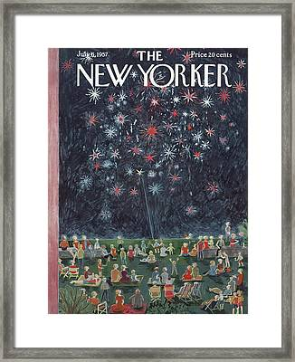 New Yorker July 6th, 1957 Framed Print by Ilonka Karasz