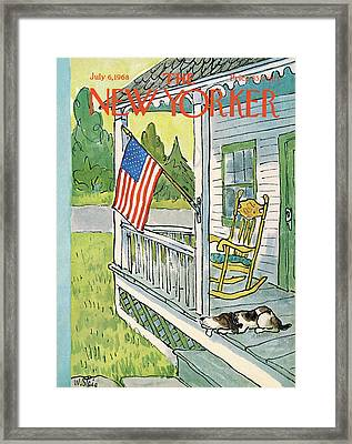 New Yorker July 6th, 1968 Framed Print by William Steig