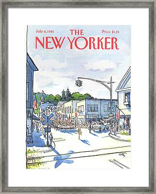 New Yorker July 6th, 1981 Framed Print by Arthur Getz