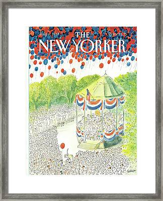 New Yorker July 6th, 1987 Framed Print by Jean-Jacques Sempe