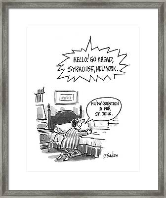 New Yorker July 6th, 1992 Framed Print