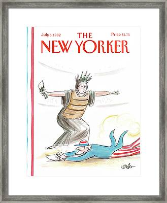 New Yorker July 6th, 1992 Framed Print
