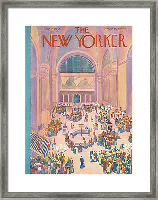 New Yorker July 7th, 1934 Framed Print