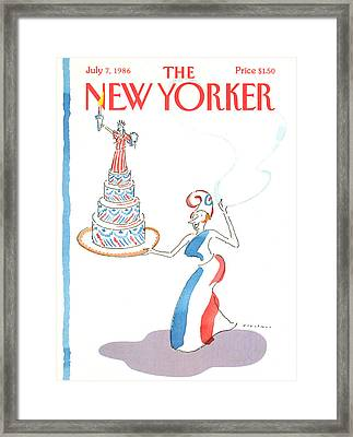 New Yorker July 7th, 1986 Framed Print by R.O. Blechman