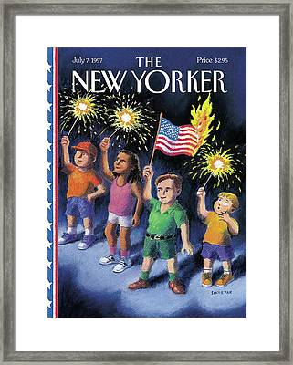 New Yorker July 7th, 1997 Framed Print by R. Sikoryak