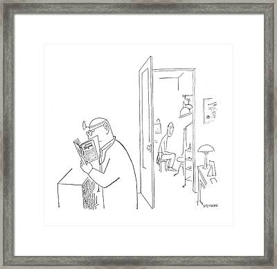 New Yorker July 8th, 1950 Framed Print by Saul Steinberg