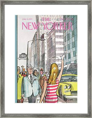 New Yorker July 8th, 1972 Framed Print by Charles Saxon