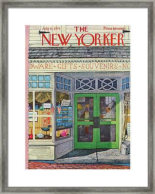 New Yorker July 8th, 1974 Framed Print by Albert Hubbell