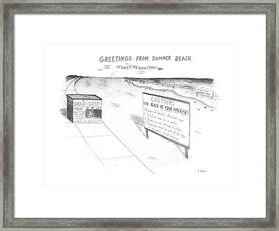 New Yorker July 8th, 1985 Framed Print by Roz Chast