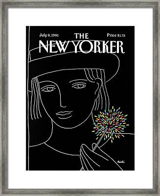 New Yorker July 8th, 1991 Framed Print by Heidi Goennel